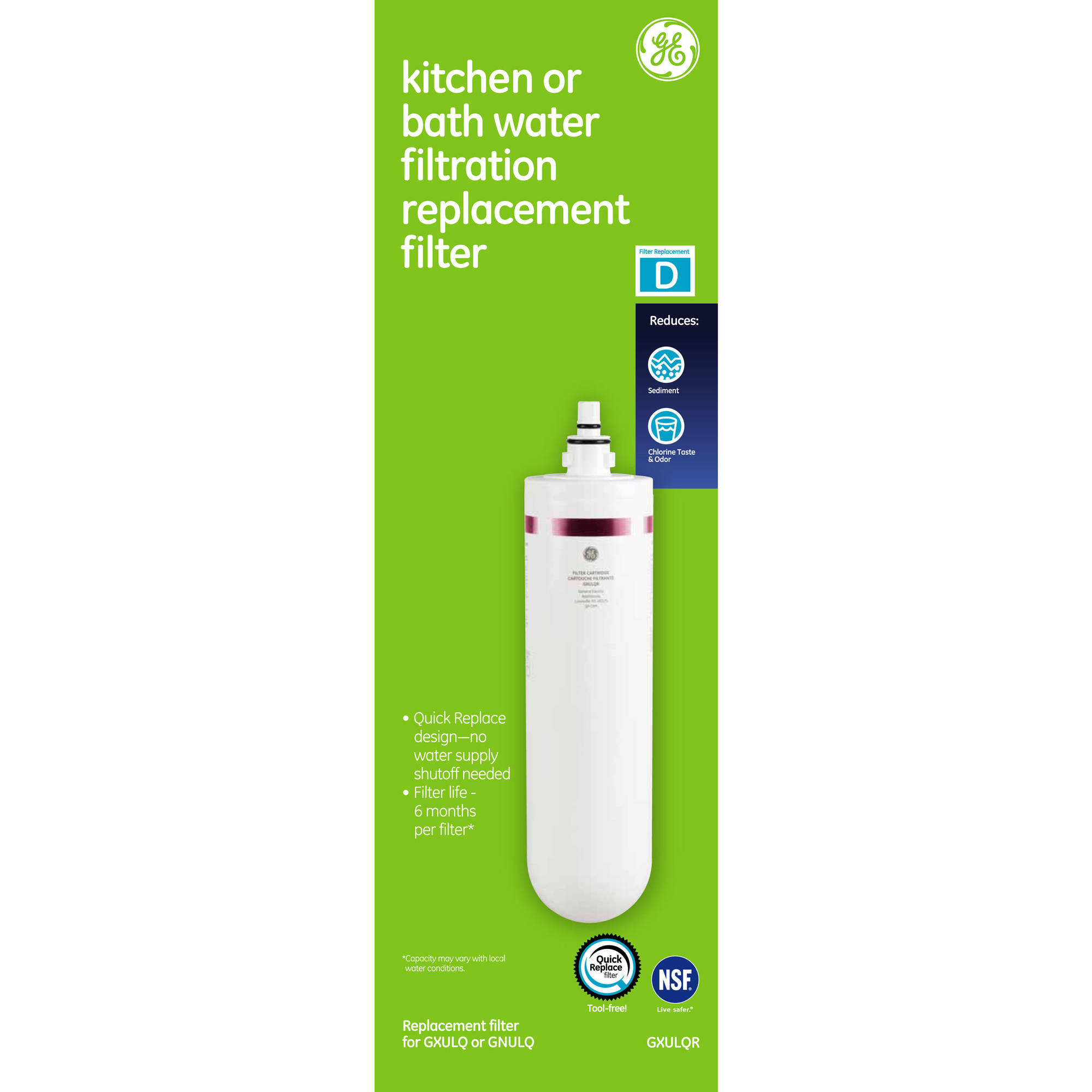 GE Kitchen and Bath Replacement Filter