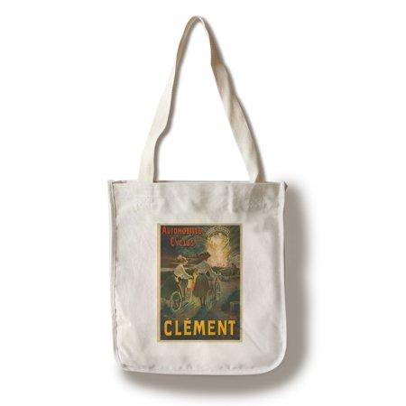Automobiles et Cycles Clement Vintage Poster (artist: Guillaume, Albert) France c. 1903 (100% Cotton Tote Bag - Reusable)
