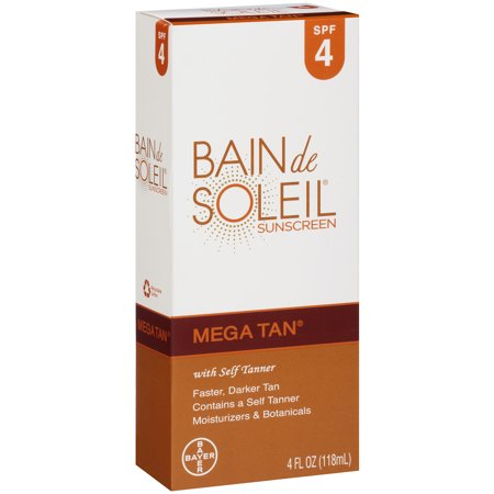 Bain De Soleil Mega Tan SPF 4 with Self Tanner 4oz