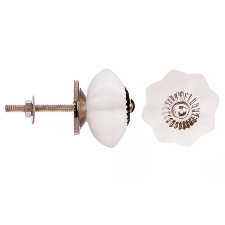 Darice Decorative Glass Knob: Frosted Melon Flower Knob ()