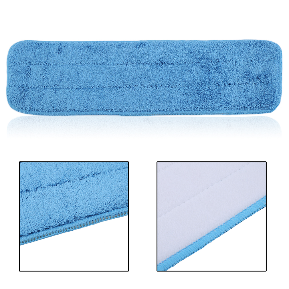 5 Pcs 40cm Washable Reusable Microfiber Mop Pads Head Replacement Wet Dry Mop