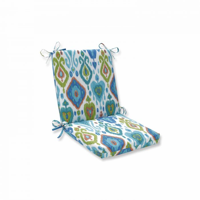 """36.5"""" Vibrantly Colored Ikat Pattern Outdoor Patio Square Corner Chaise Lounge Cushion"""