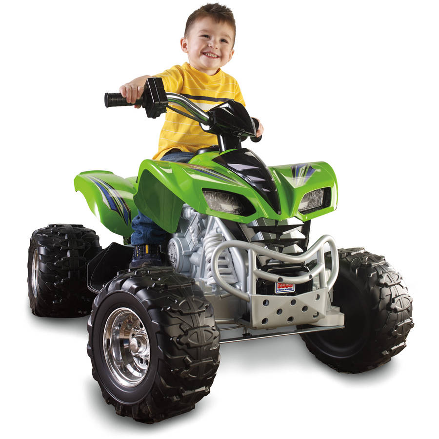 Fisher-Price Power Wheels Kawasaki KFX 12-Volt Battery-Powered Ride-On, Green