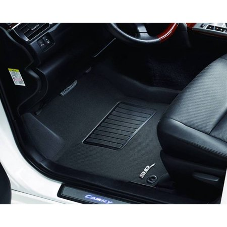 3D MAXpider 2013-2016 Ford Fusion Lincoln Mkz Kagu 1st Row Black Carbon Fiber Embossed Pattern Floor Mat L1FR06011509 (Lincoln Mkz 2011 Mats)