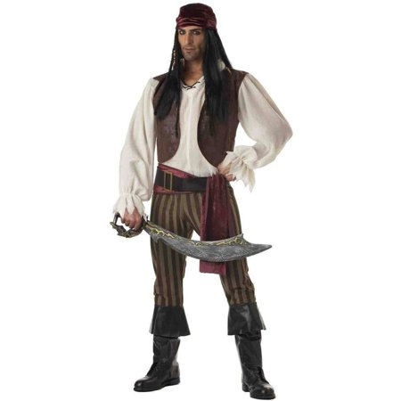 Rogue Pirate Men's Adult Halloween Costume - Skeleton Pirate Halloween Makeup