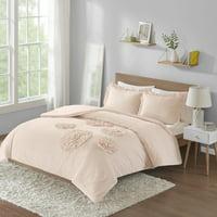 Home Essence Apartment Lia Ruffle Floral Comforter Set