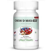 Maxi Health Chew D Max 1000 Chewables, 100 Ct