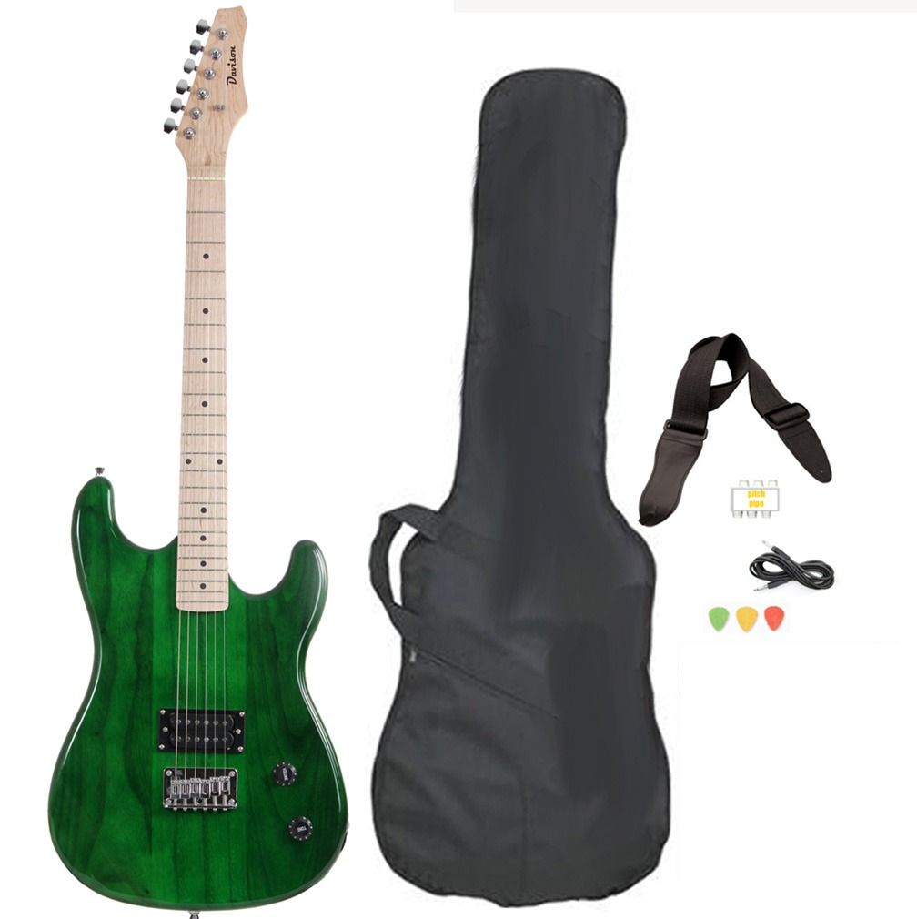 Davison Guitars Electric Guitar Green Full Size With Case Cord And Picks by