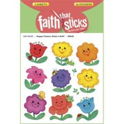 Tyndale House Publishers 110029 Sticker-Happy Flowers-Stick-N-Sniff, 6 Sheets-Faith That Sticks