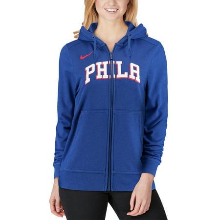 61d429ccf Philadelphia 76ers Nike Women's Essential Wordmark Full-Zip Hoodie - Royal