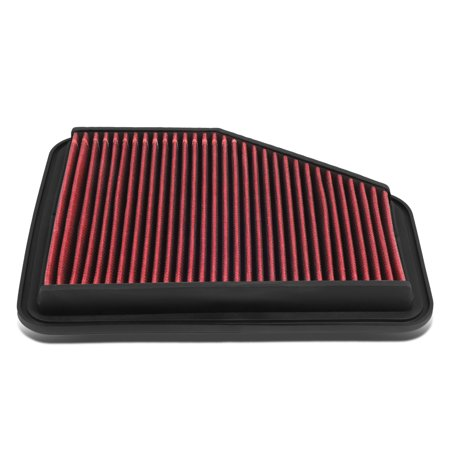 For GS300 / GS430 / GS450h / SC430 Reusable & Washable Replacement Engine High Flow Drop-in Air Filter (Engine Air Flow)
