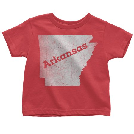 Large / Red Arkansas Kids Tee Home Shirt](Rex Kid)