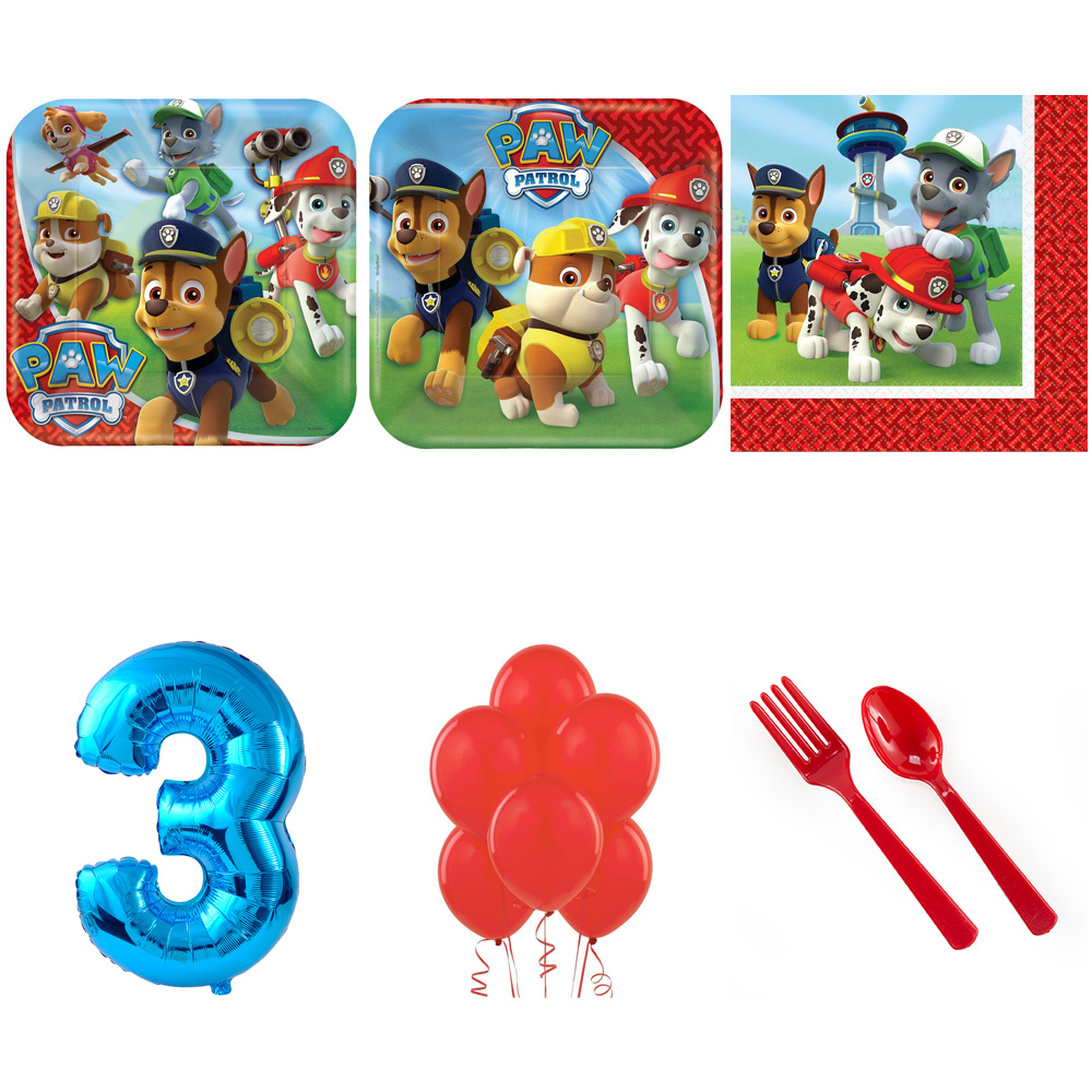 PAW PATROL PARTY SUPPLIES PARTY PACK WITH BLUE #2 BALLOON