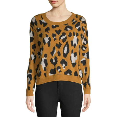 good pretty nice shop for authentic Women's Leopard Print Pullover Sweater