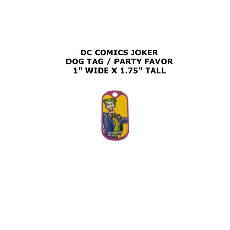 The Joker DC Comics Cartoon Theme Logo Dog Tag Keychain Party Favor - Joker Dog