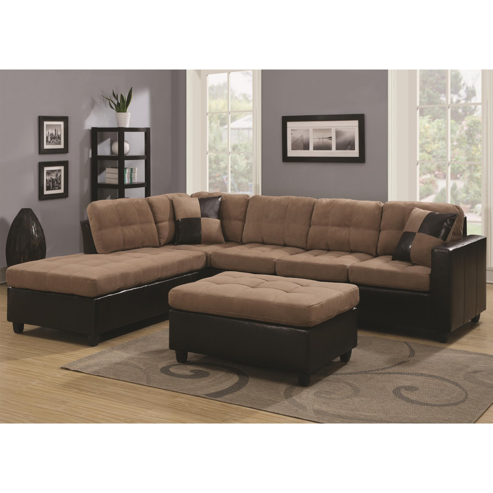 Coaster furniture mallory sectional walmart com