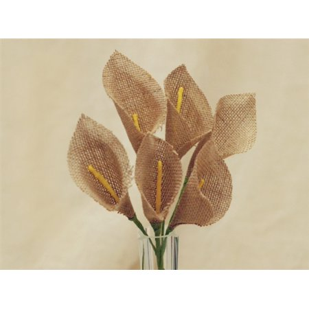 BalsaCircle 36 Burlap Calla Lily Flowers - DIY Rustic Home Wedding Party Artificial Bouquets Arrangements Centerpieces (Burlap Centerpieces)