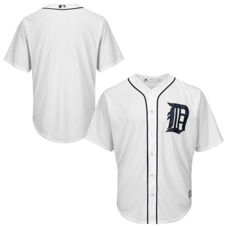 Detroit Tigers Majestic Youth Official Cool Base Jersey - White (Detroit Tigers White Majestic Jersey)