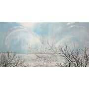 """Marmont Hill """"Twin Lake Effect"""" by Tracy Silva Barbosa Painting Print on Canvas"""