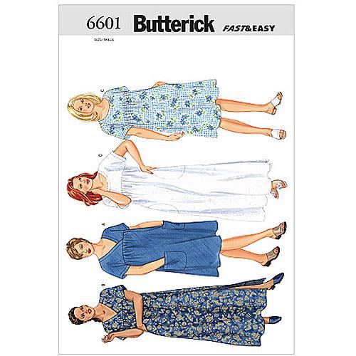 Butterick Pattern Women's and Women's Petite Dress, (22W, 24W, 26W)