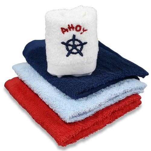 Spasilk Cotton 4 Pack Woven Washcloths