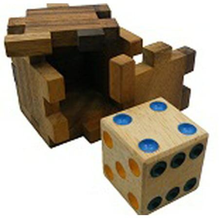 Hidden Dice Cube Interlocking Wooden Puzzle