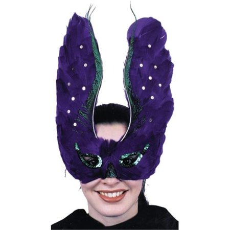 Costumes For All Occasions Ti49 Mask Feather Purpl With Sequin - The Town Masks For Sale