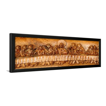 Last Supper Sculptures Carving On Wall Vigan Ilocos Sur Philippines Framed Print Art