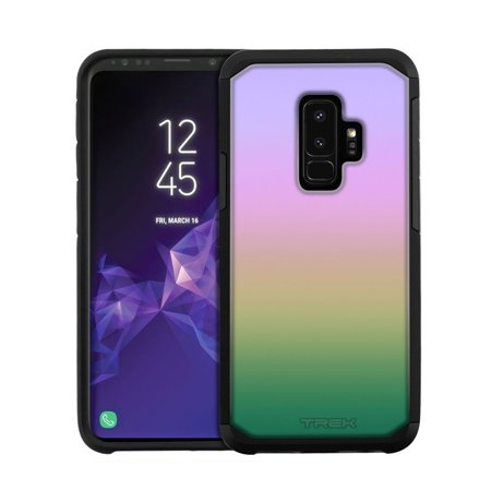 Samsung Galaxy S9 Plus Hybrid Slim Case - Rainbow Pastel Colors