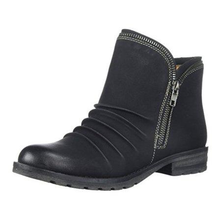 Natural Soul Womens Brisha Leather Closed Toe Ankle Fashion Boots