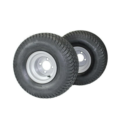 20x10.00-8 Tires & Wheels 4 Ply for Lawn & Garden Mower Turf Tires  (Set of