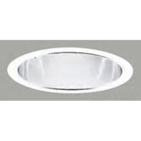Halo Recessed 406SC 6-Inch Trim Baffle with Specular Clear Reflector and Torsion (Clear Reflector Trim)