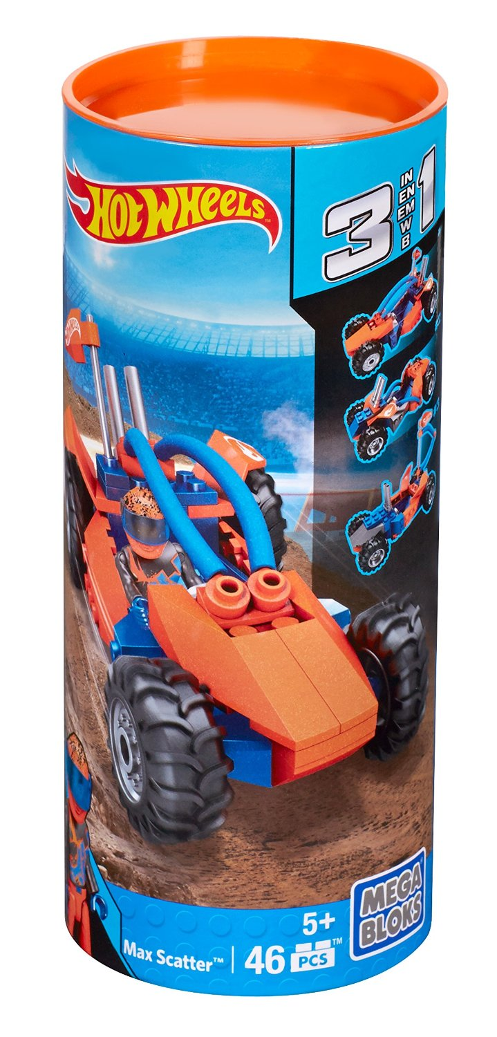 Hot Wheels Mega Bloks Max Scatter 3-in-1 (46 Pieces) by Mattel