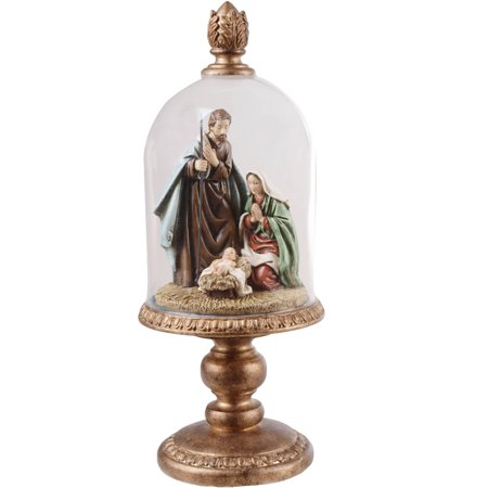 Glass Nativity Set (Holiday Time Holy Family Glass)