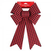 Buffalo Plaid Christmas Bow by Holiday Essentials