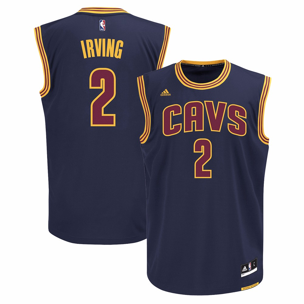 Kyrie Irving Cleveland Cavaliers NBA Adidas Men's Navy Blue Official Alternate Road Replica Jersey