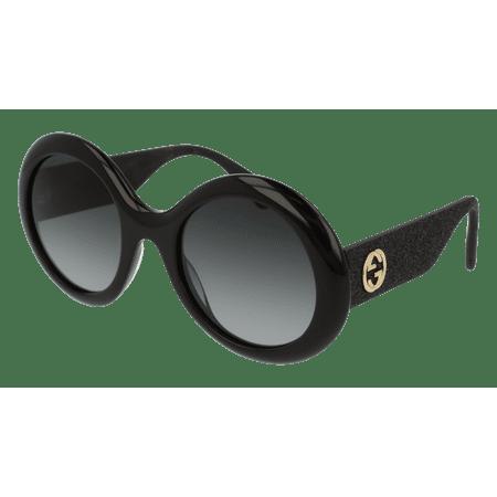 eb798809720 Gucci - Gucci GG0101S 001 Black Round Sunglasses - Walmart.com