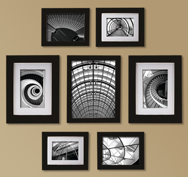 Create a Gallery Snapshot 7-Piece Black Frame Set
