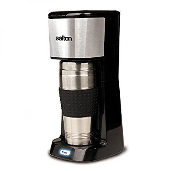 Salton Travel Single Serve Coffee Maker + stainless steel...