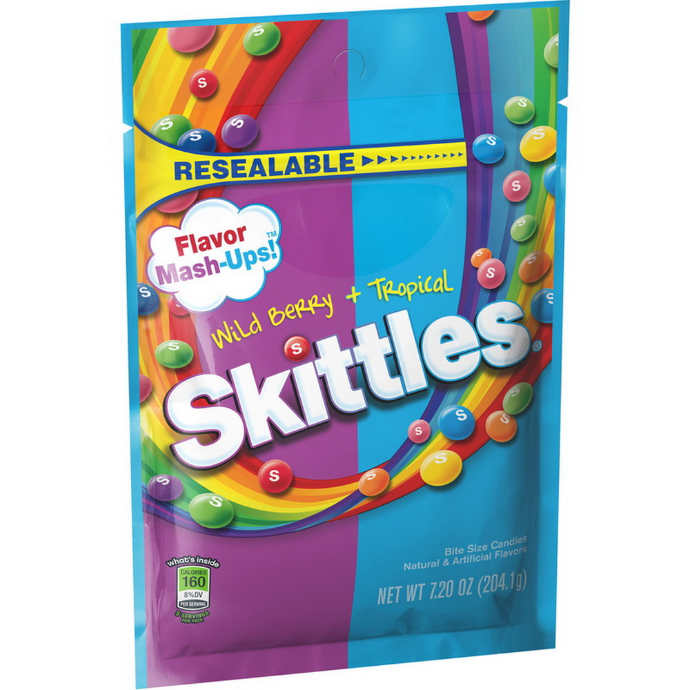(Price/case)Skittles 26586 Skittles Mashups Peg Bag 7.2oz 12/Cs