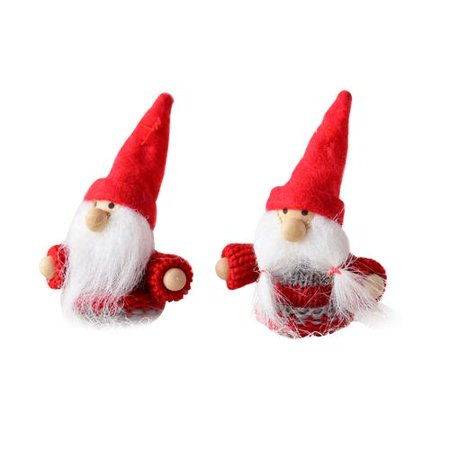 2 Pack Cute Small Santa Hanging Ornament for Christmas Tree Decorations The Door Party Door Decor (Xmas) - Christmas Door Decorations For Office