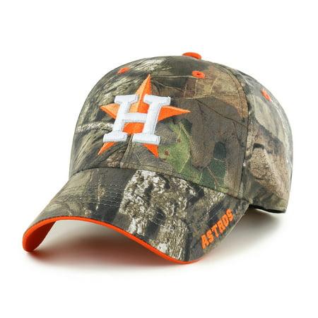 Houston Astros Pinstripe - Fan Favorite MLB Mossy Oak Adjustable Hat, Houston Astros