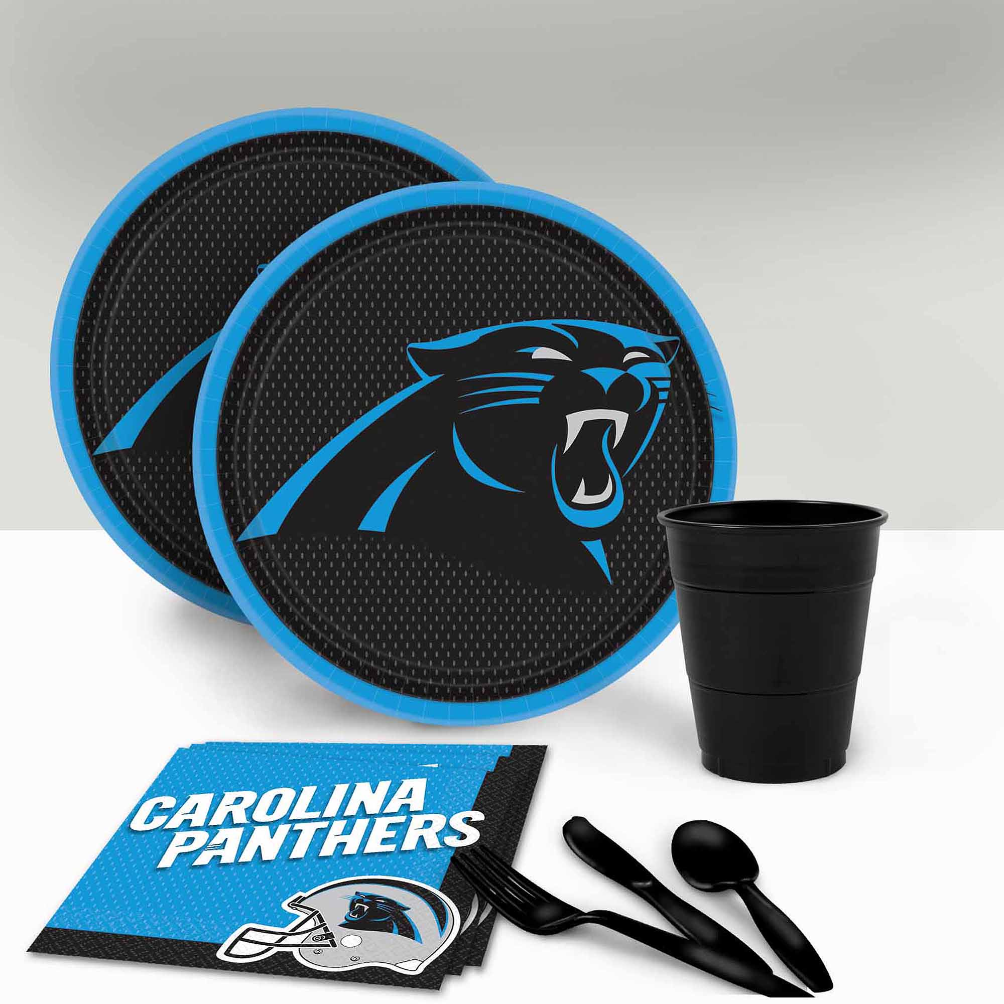 Carolina Panthers Tableware Party Pack for 16