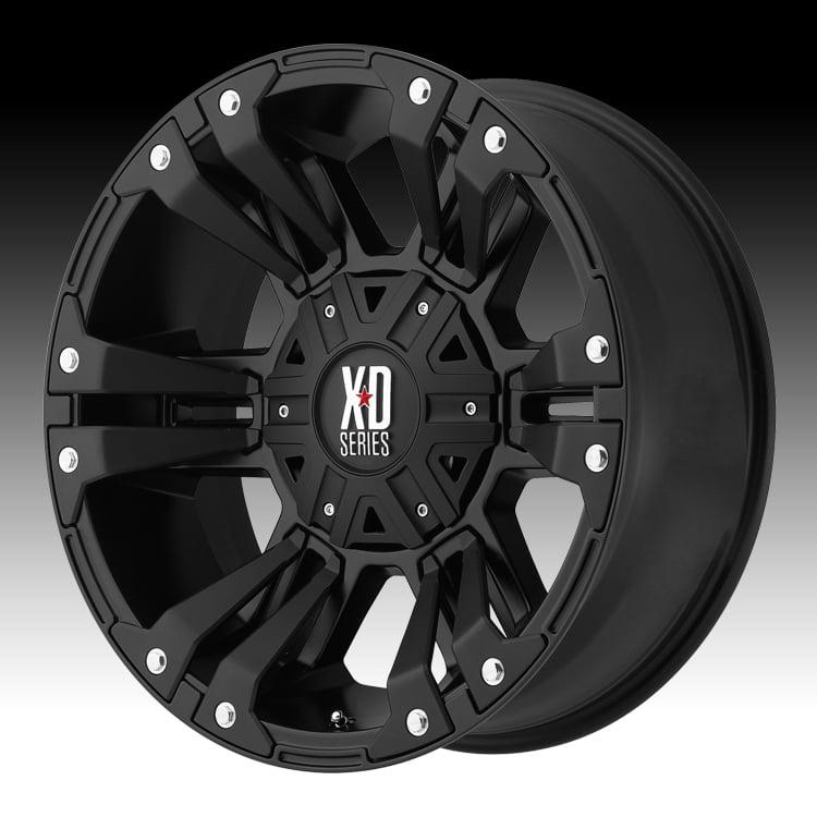 KMC XD XD822 Monster II Satin Black 17x9 5x5.5 / 5x150 -1...