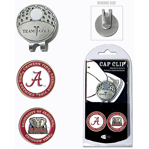 Team Golf NCAA Alabama Cap Clip With 2 Golf Ball Markers