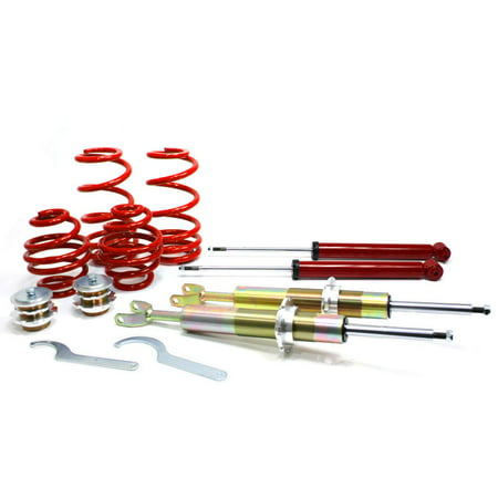 Vw Jetta Coilovers - RSK Street Coilover Kit - VW Passat B5 / B5.5 (FWD Models) - Red