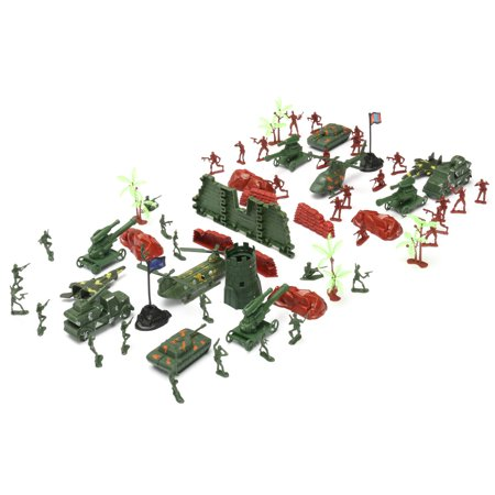 270 pcs Military Playset Plastic Toy Soldier Army Men 4cm Figures & Accessories - image 4 of 12