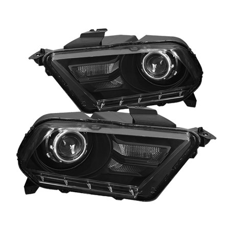 - Spec-D Tuning 2010-2014 Ford Mustang Black Retrofit Style Projector Headlights Head Lamps Left+Right (Left + Right) 10 11 12 13 14