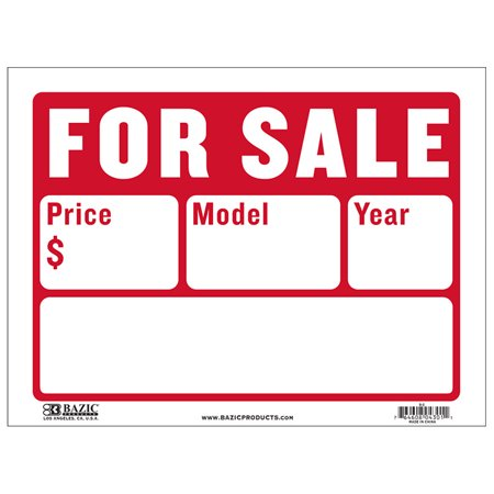 New 402467   12 Inch X 16 Inch For Sale Sign (2- Line) (24-Pack) Signs Cheap Wholesale Discount Bulk Store Supplies Signs](Cheap Stores)
