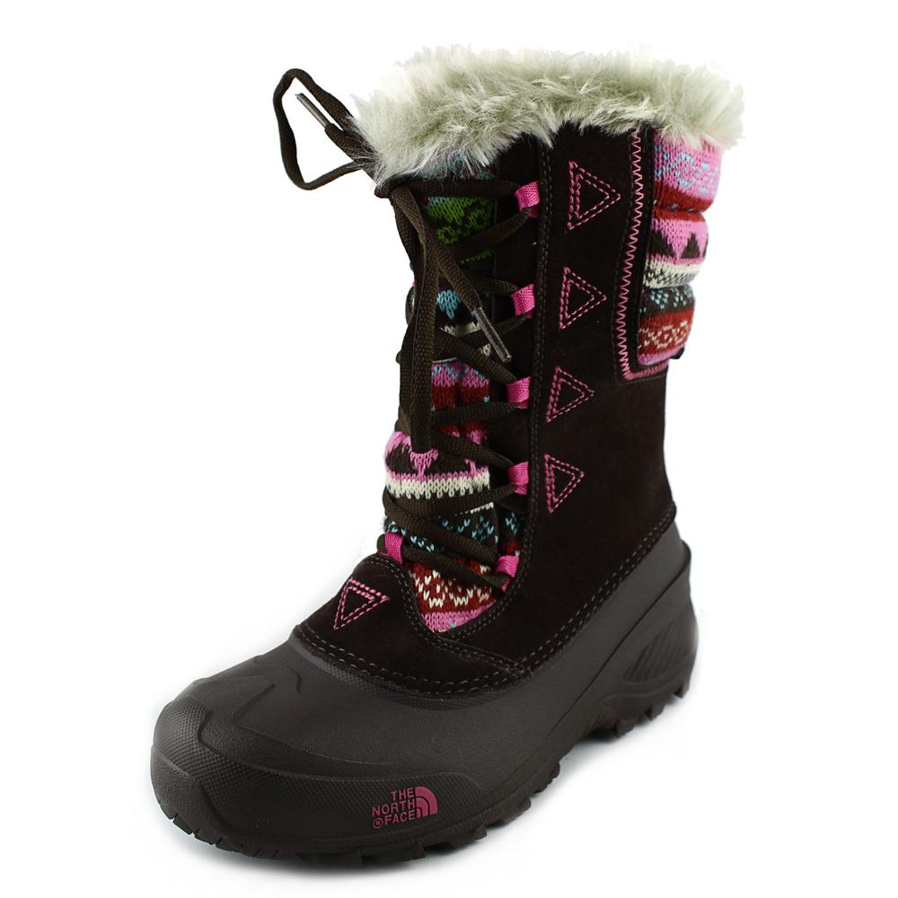 The North Face Shellista Lace Novelty II Youth  Round Toe Suede  Snow Boot